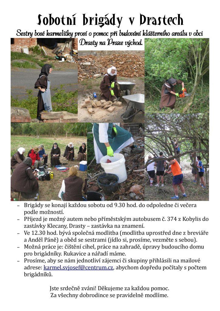 Sestry bosé karmelitky prosí o pomoc při budování klášterního areálu v obci Drasty na Praze východ.